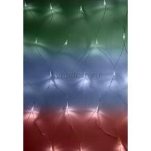 Гирлянда - сеть светодиодная 1,5*1,5м, свечение с динамикой, прозрачный провод, диоды мультиколор Neon-Night 215-129