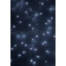 Гирлянда Светодиодный Дождь 1,5*1,5м, свечение с динамикой, прозрачный провод, 220В, диоды белые Neon-Night 235-035