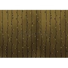 Гирлянда Светодиодный Дождь 2*1,5м, постоянное свечение, темно-зеленый провод, 220В, диоды тепло-белые Neon-Night 235-126