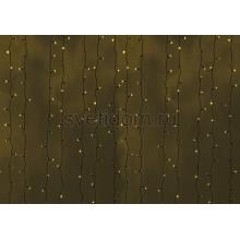 Гирлянда Светодиодный Дождь 2*3м, постоянное свечение, черный провод, 220В, диоды желтые Neon-Night 235-141
