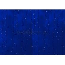 Гирлянда Светодиодный Дождь 2*3м, постоянное свечение,черный провод, 220В, диоды синие Neon-Night 235-143