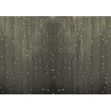 Гирлянда Светодиодный Дождь 2*3м, постоянное свечение, прозрачный провод, 220В, диоды тепло-белые Neon-Night 235-156