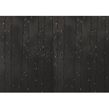 Гирлянда Светодиодный Дождь 2*6м, постоянное свечение, прозрачный провод, 220В, диоды тепло-белые Neon-Night 235-176