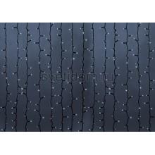 Гирлянда Светодиодный Дождь 2*9м, эффект мерцания, черный провод, 220В, диоды белые Neon-Night 235-186