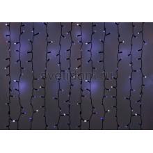 Гирлянда Светодиодный Дождь 2*3м, эффект мерцания, черный провод, 220В, диоды синие Neon-Night 235-203