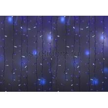 Гирлянда Светодиодный Дождь 2*1,5м, эффект мерцания, белый провод, 220В, диоды синие Neon-Night 235-223