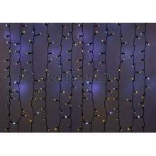 Гирлянда Светодиодный Дождь 2*1,5м, эффект мерцания, черный провод, 220В, диоды желтые Neon-Night 235-235