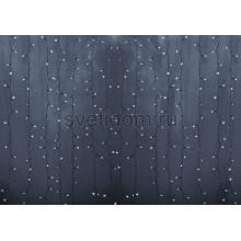 Гирлянда Светодиодный Дождь 2*1,5м, постоянное свечение,прозрачный провод, 220В, диоды белые Neon-Night 235-305-6
