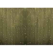 Гирлянда Светодиодный Дождь 2*1,5м, постоянное свечение, прозрачный провод, 220В, диоды тепло-белые Neon-Night 235-306-6