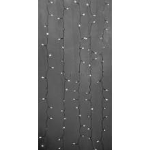 Гирлянда Светодиодный Дождь 2*3м, эффект водопада, прозрачный провод, 24В, диоды белые Neon-Night 235-435