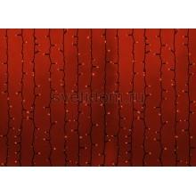 Гирлянда Светодиодный Дождь 2*3м, постоянное свечение, черный провод каучук, 220В, диоды красные Neon-Night 237-142