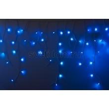 Гирлянда Айсикл (бахрома) светодиодный, 2,4*0,6 м, белый провод, 220В, диоды синие Neon-Night 255-033-6