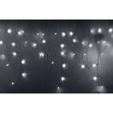 Гирлянда Айсикл (бахрома) светодиодный, 2,4*0,6м, эффект мерцания, белый провод, 220В, диоды белые Neon-Night 255-036