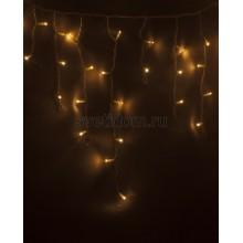 Гирлянда Айсикл (бахрома) светодиодный, 2,4*0,6 м, белый провод, 220В, диоды тепло-белые Neon-Night 255-037