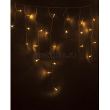 Гирлянда Айсикл (бахрома) светодиодный, 4,8*0,6 м, белый провод, 220В, диоды тепло-белые Neon-Night 255-138