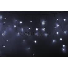 Гирлянда Айсикл (бахрома) светодиодный, 4,8*0,6 м, прозрачный провод, 220В, диоды белые Neon-Night 255-145