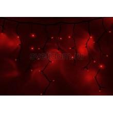 Гирлянда Айсикл (бахрома) светодиодный, 5,6х0,9м, черный провод каучук, 220В, диоды красные Neon-Night 255-242