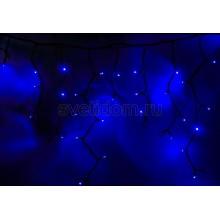 Гирлянда Айсикл (бахрома) светодиодный, 5,6х0,9м, черный провод каучук, 220В, диоды синие Neon-Night 255-243