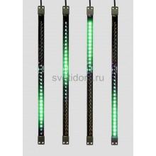 Сосулька светодиодная 50 см, 9,5V, двухсторонняя, 32х2 светодиодов, пластиковый корпус черного цвета, цвет светодиодов зеленый Neon-Night 256-121