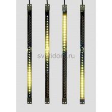 Сосулька светодиодная 50 см, 9,5V, двухсторонняя, 32х2 светодиодов, пластиковый корпус черного цвета, цвет светодиодов желтый Neon-Night 256-122