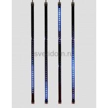 Сосулька светодиодная 80 см, 9,5V, двухсторонняя, 48х2 светодиодов, пластиковый корпус черного цвета, цвет светодиодов синий Neon-Night 256-126