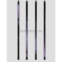Сосулька светодиодная 80 см, 9,5V, двухсторонняя, 48х2 светодиодов, пластиковый корпус черного цвета, цвет светодиодов белый Neon-Night 256-127