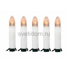 Гирлянда Свечи LED 10 м, 50 диодов, цвет теплый белый Neon-Night 303-085