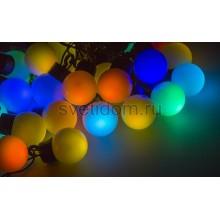 Гирлянда LED - шарики, RGB, ф30 мм, 5 м Neon-Night 303-569