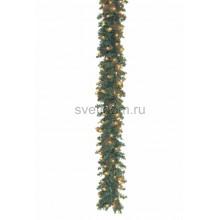 Еловый шлейф искуственный 2, 7 м Теплое белое свечение 100 LED Neon-Night 307-111