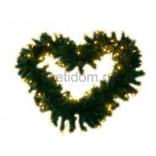 Еловый шлейф искуственный 2,7 м тепло-белые светодиоды Neon-Night 307-116