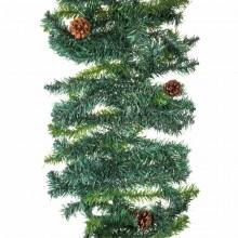 Еловый шлейф 2,7 м с шишками, объем 41 см Neon-Night 307-221