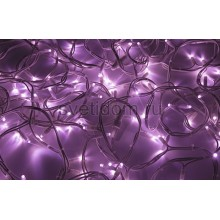 Гирлянда модульная Дюраплей LED 20м 200 LED белый каучук розовая Neon-Night 315-147