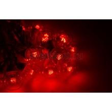 Гирлянда LED Galaxy Bulb String 10м, белый каучук, 30 ламп*6 LED красные, влагостойкая IP54 Neon-Night 331-302