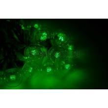 Гирлянда LED Galaxy Bulb String 10м, белый каучук, 30 ламп*6 LED зеленые, влагостойкая IP65 Neon-Night 331-304