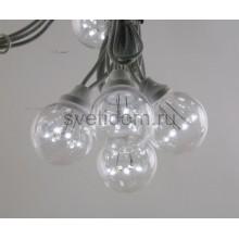Гирлянда LED Galaxy Bulb String 10м, белый каучук, 30 ламп*6 LED белые Партия NN на ПВХ, 25 ламп, влагостойкая IP65 Neon-Night 331-305