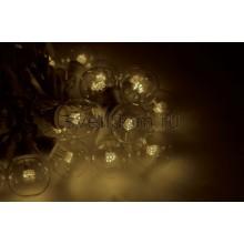 Гирлянда LED Galaxy Bulb String 10м, белый каучук, 30 ламп*6 LED тепло-белые, влагостойкая IP65 Neon-Night 331-306