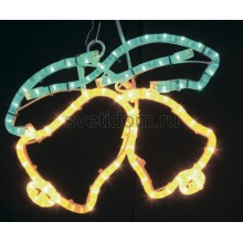 "Фигура ""Два колокольчика"" цвет жёлтый/зеленый, размер 35*28 см Neon-Night 501-215"