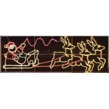 """Фигура световая """"Олени везут Санта Клауса на санях"""" размер 88*266 см Neon-Night 501-311"""