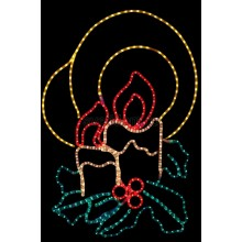"""Фигура """"Две свечи"""", размер 100*75 см Neon-Night 501-320"""