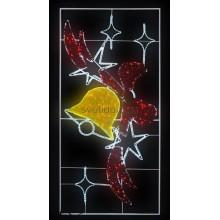 """Фигура световая """"Колокольчик с бантом"""", 320 светодиодов 32м дюралайта, размер 260*125 Neon-Night 501-353"""