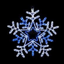 """Фигура световая """"Снежинка"""" цвет белая/синяя, размер 60*60 см, с контролером Neon-Night 501-531"""