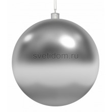 Елочная фигура Шар, 15 см, цвет серебряный Neon-Night 502-025