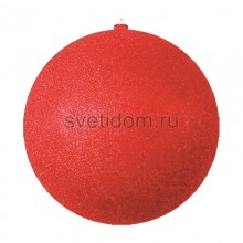 Елочная фигура Шар с блестками, 25 см, цвет красный Neon-Night 502-042