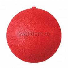 Елочная фигура Шар с блестками, 30 см, цвет красный Neon-Night 502-052