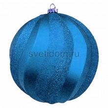 Елочная фигура Шар Вихрь, 20 см, цвет синий Neon-Night 502-063