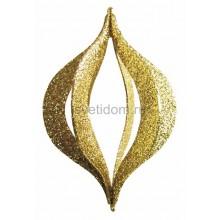 Елочная фигура Сосулька складная 3D, 51 см, цвет золотой Neon-Night 502-321