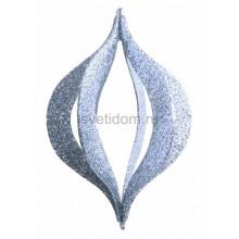 Елочная фигура Сосулька складная 3D, 51 см, цвет серебряный Neon-Night 502-326