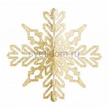 Елочная фигура Снежинка ажурная 3D, 23 см, цвет золотой Neon-Night 502-331