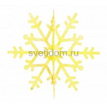 Елочная фигура Снежинка резная 3D, 31 см, цвет золотой Neon-Night 502-341
