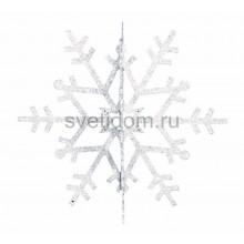 Елочная фигура Снежинка резная 3D, 31 см, цвет белый Neon-Night 502-345